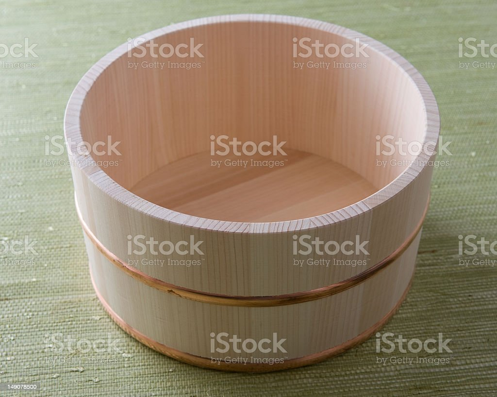 Traditional tub in Japan stock photo