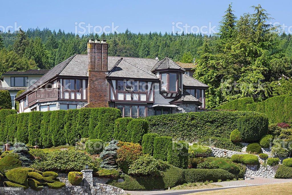 Traditional Tudor style luxury home. royalty-free stock photo
