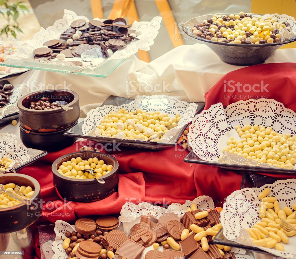 Traditional Turkey candies stock photo