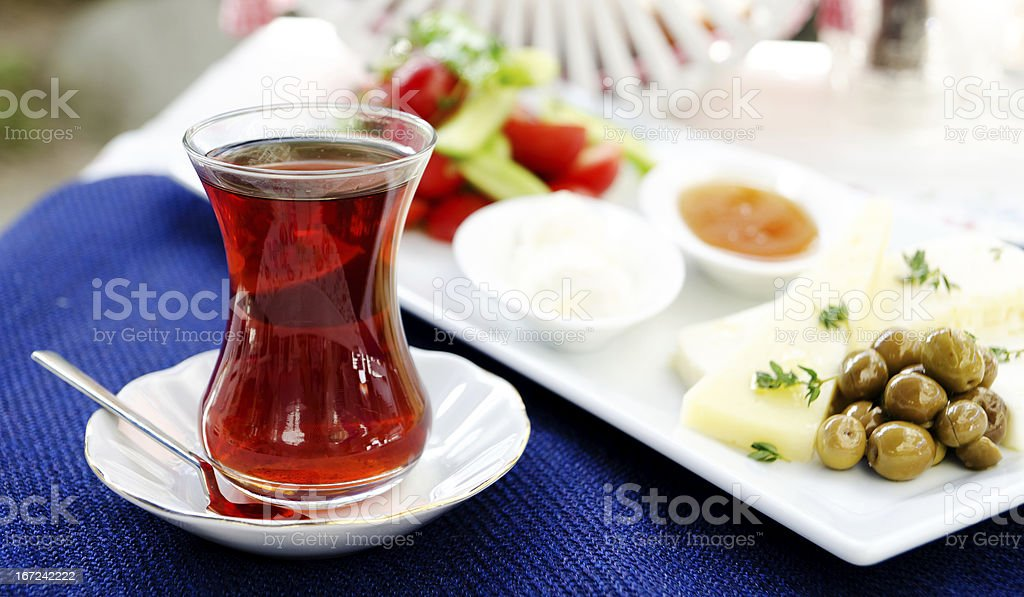 Traditional Turkish Breakfast royalty-free stock photo
