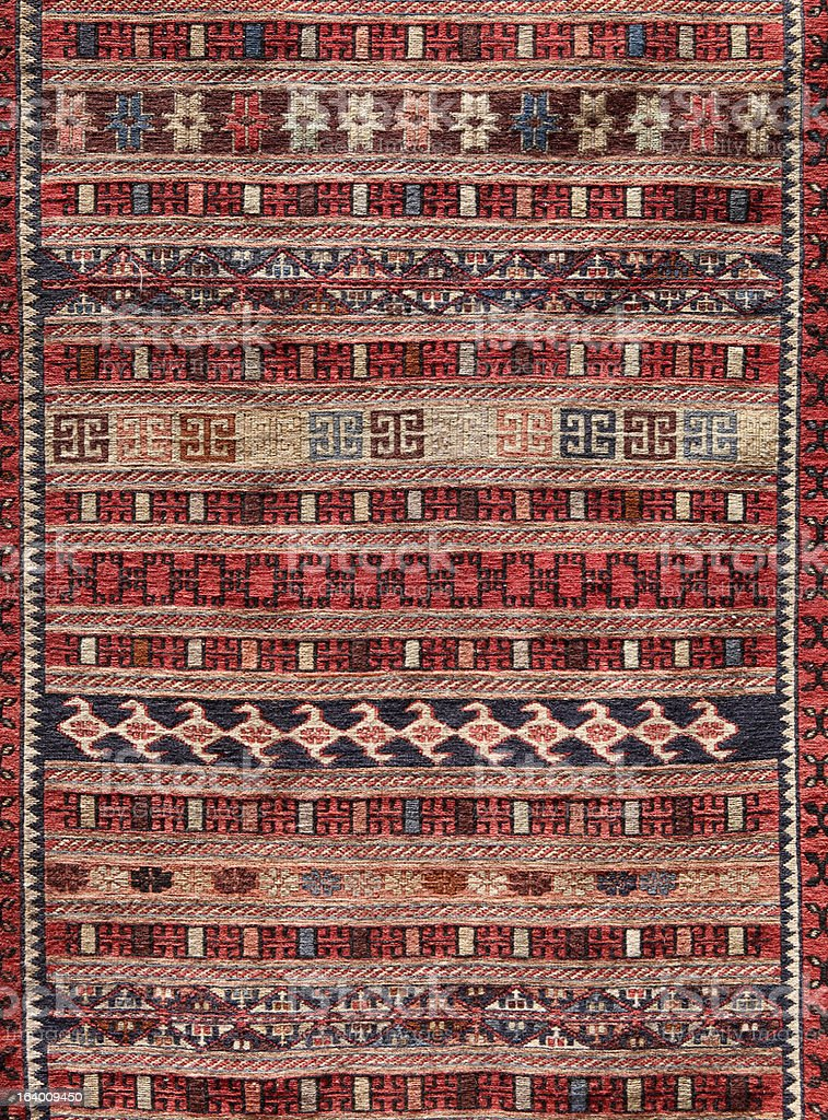Traditional Turkish carpet stock photo