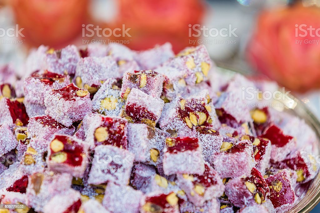 Traditional Turkish Delight stock photo