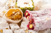 Traditional Turkish Delights, Tasty And Colorful
