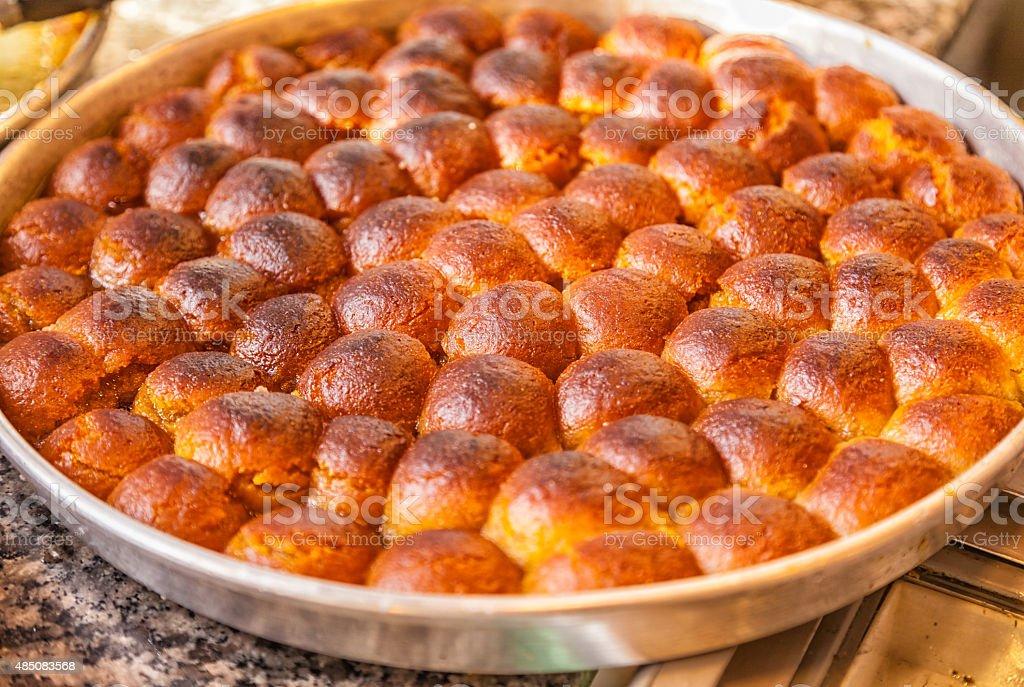 Traditional Turkish Dessert: Kemal Pa?a Tatl?s? stock photo