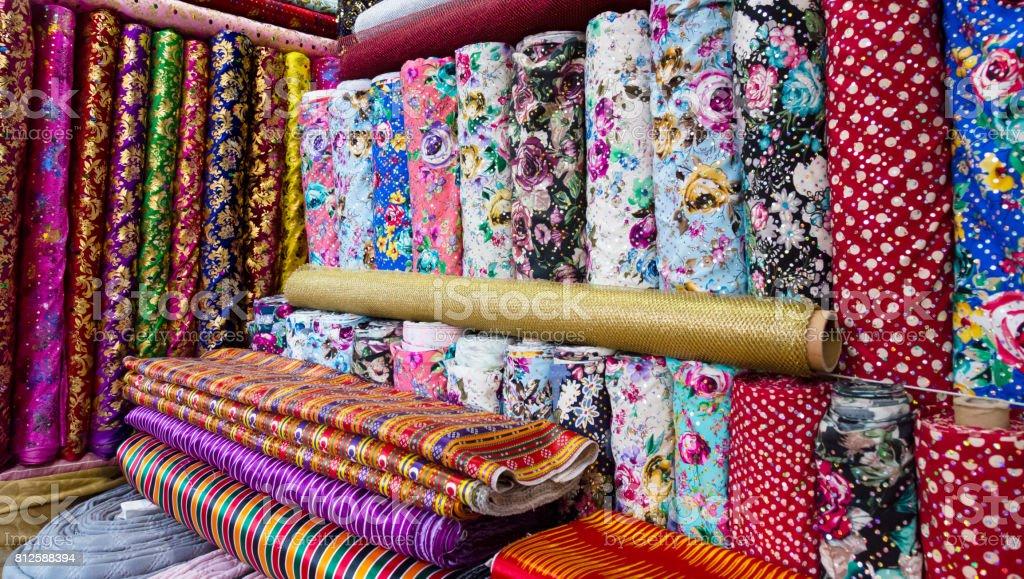 Traditional Turkish fabrics, background. stock photo