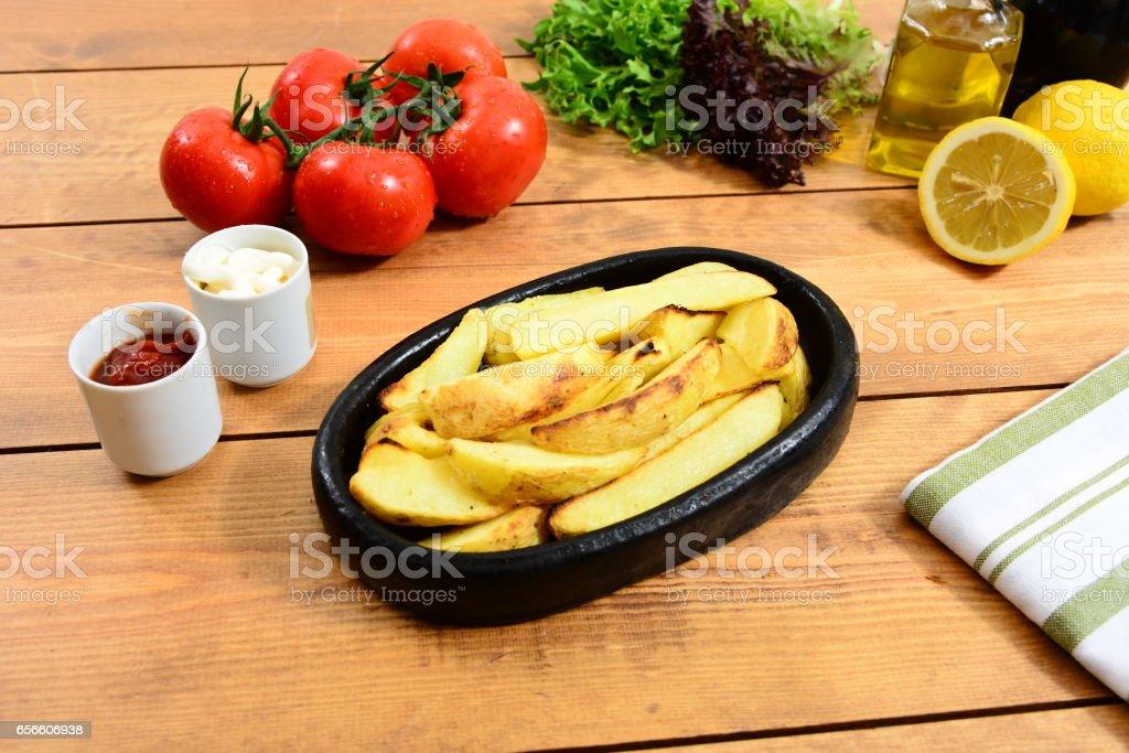 Traditional Turkish food casserole and patato stock photo