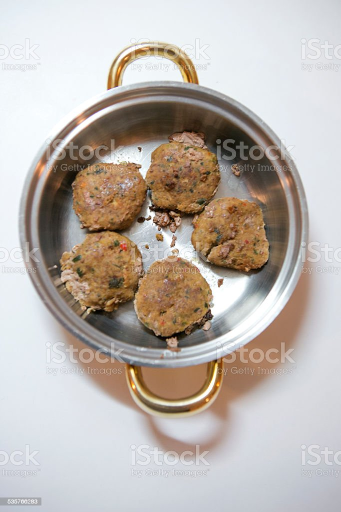 traditional turkish meat ball dish in turkey stock photo