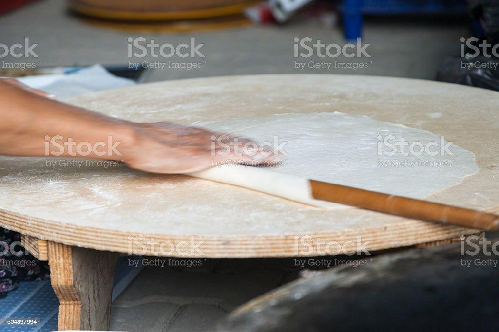 Traditional Turkish pastry - Gozleme stock photo