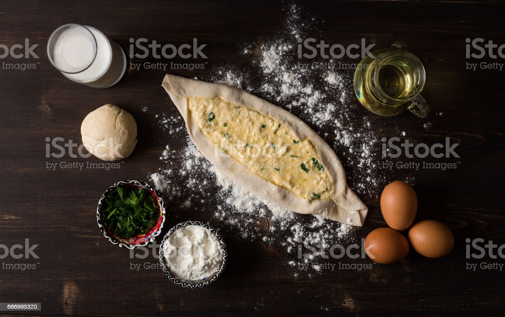 Traditional Turkish Pita stock photo