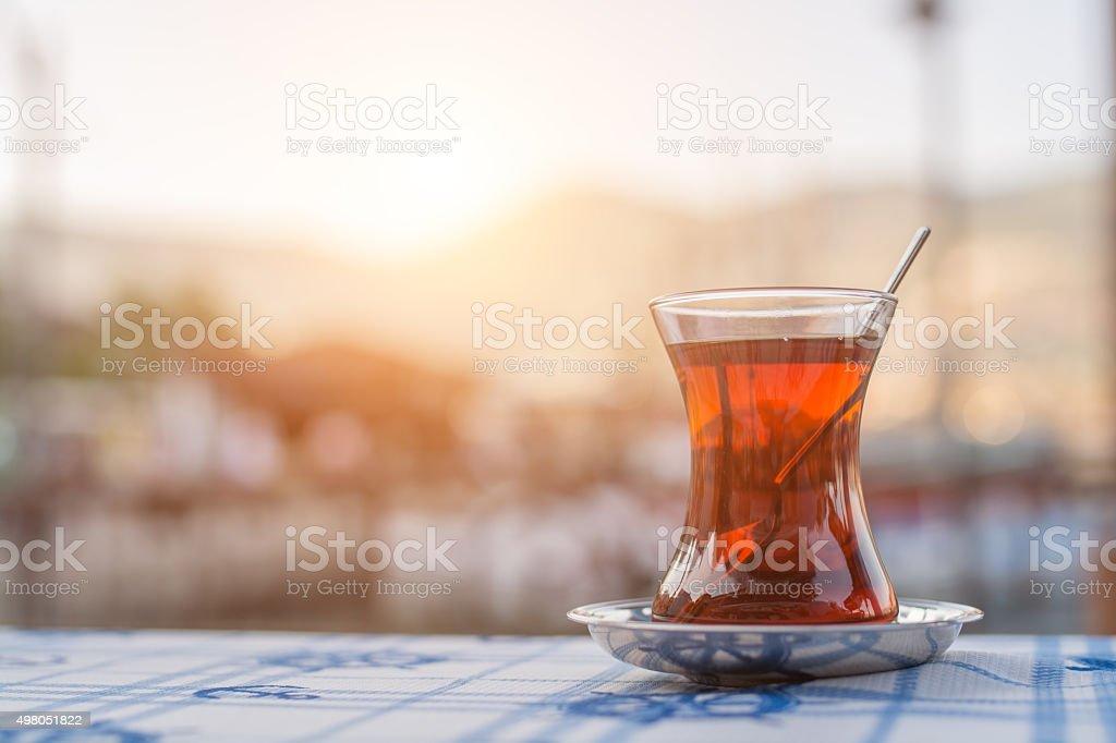 traditional Turkish tea stock photo