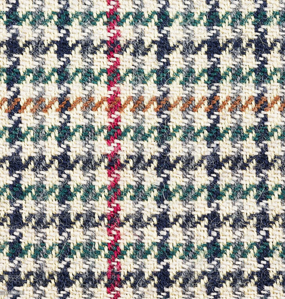 Traditional Tweed Pattern Macro royalty-free stock photo