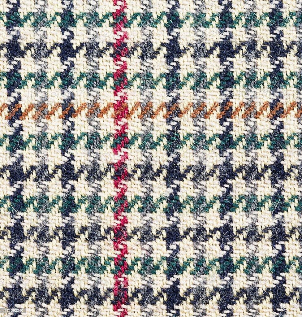 Traditional Tweed Pattern Macro stock photo