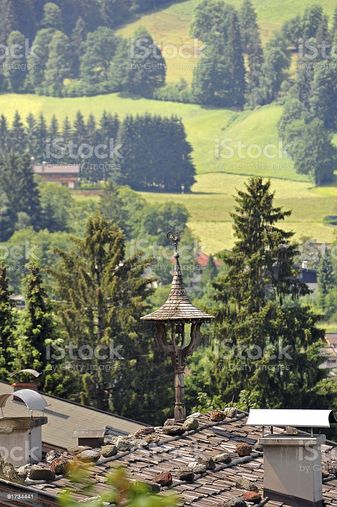 Traditional Tyrolean Pediment stock photo