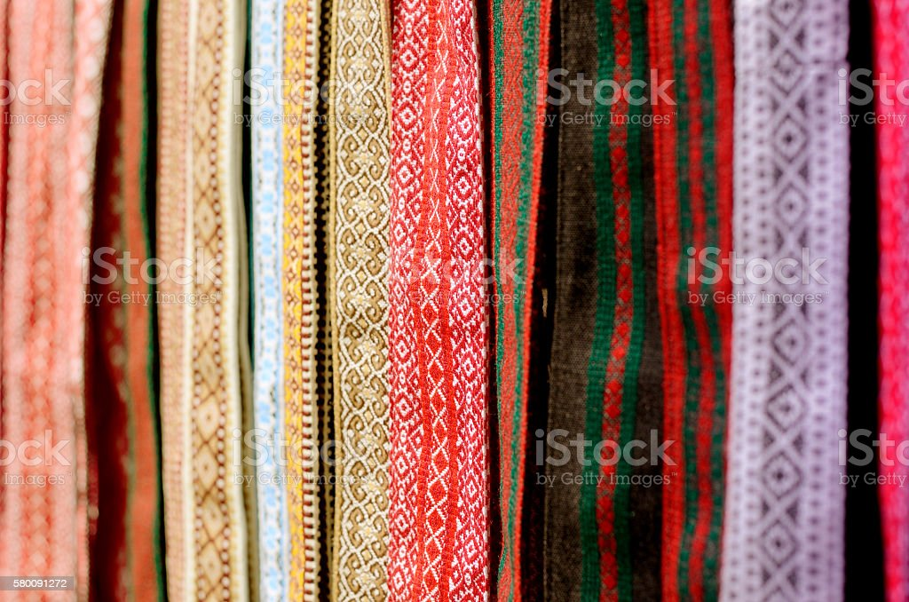 Traditional ukrainian belts. stock photo