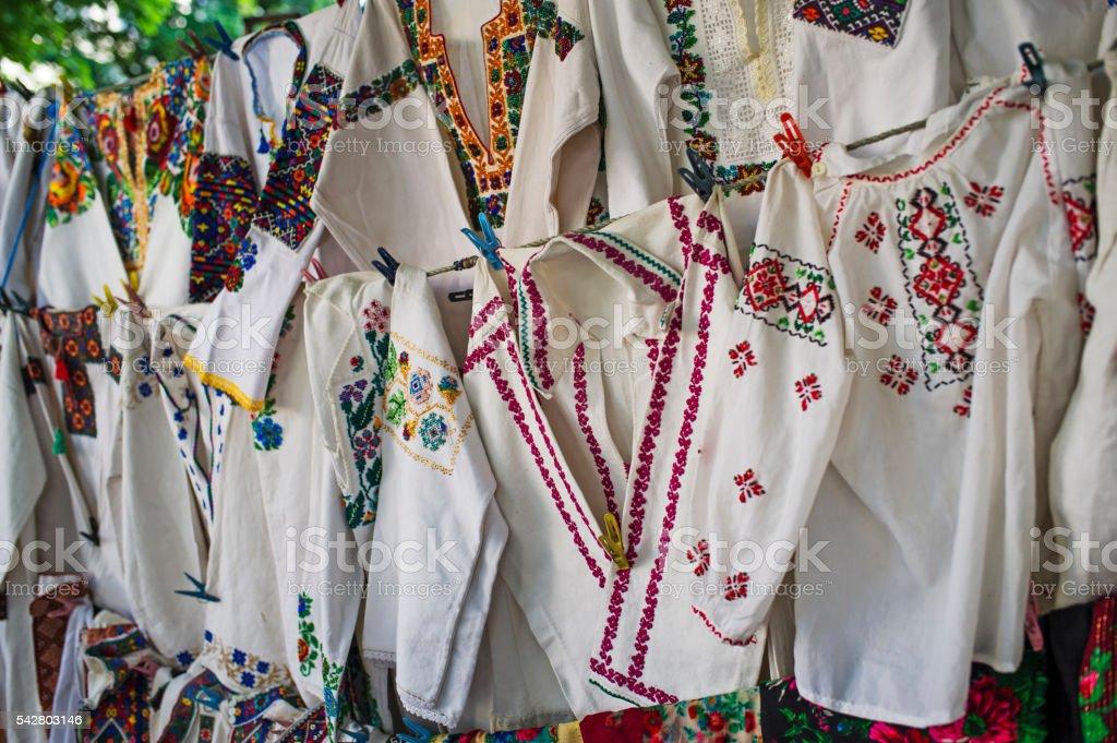 Traditional Ukrainian Clothes stock photo