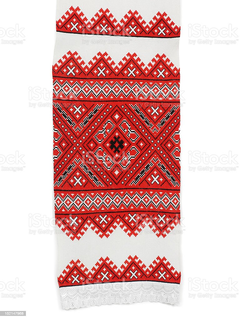 Traditional Ukrainian embroidery royalty-free stock photo