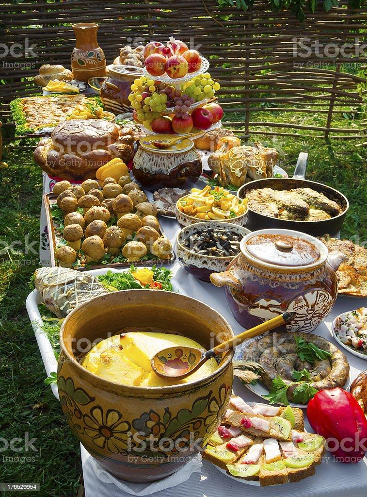 Traditional ukrainian food royalty-free stock photo