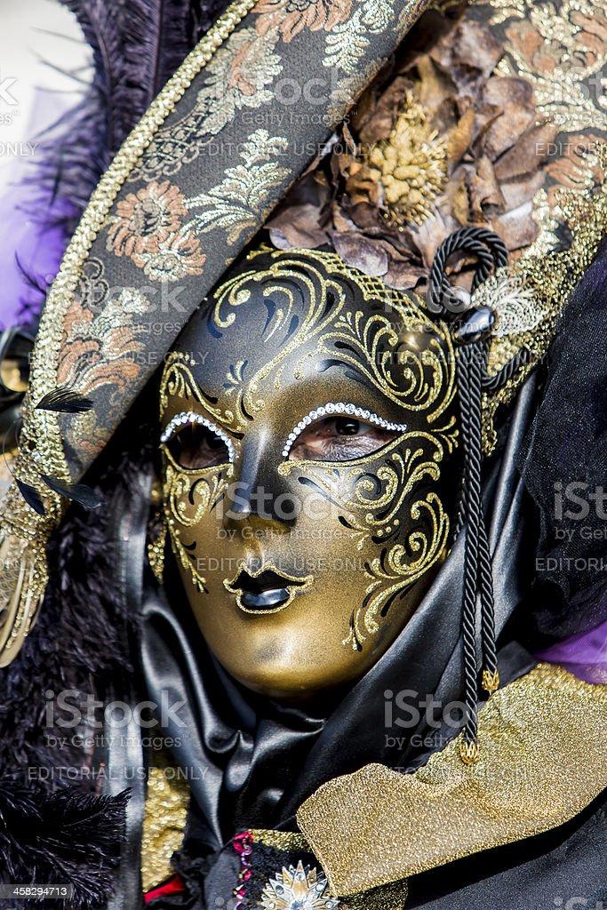 Traditional venetian carnival mask royalty-free stock photo