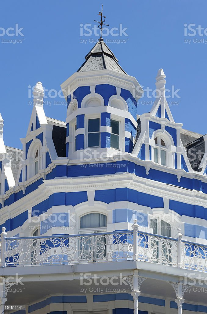 Traditional Victorian style building in downtown Cape Town royalty-free stock photo