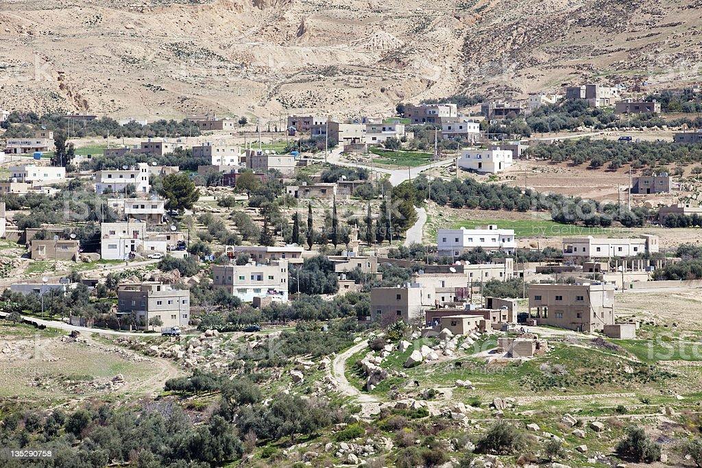 traditional view of arabian village, Jordan royalty-free stock photo
