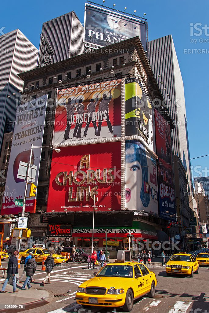 Traditional view of Times Square stock photo