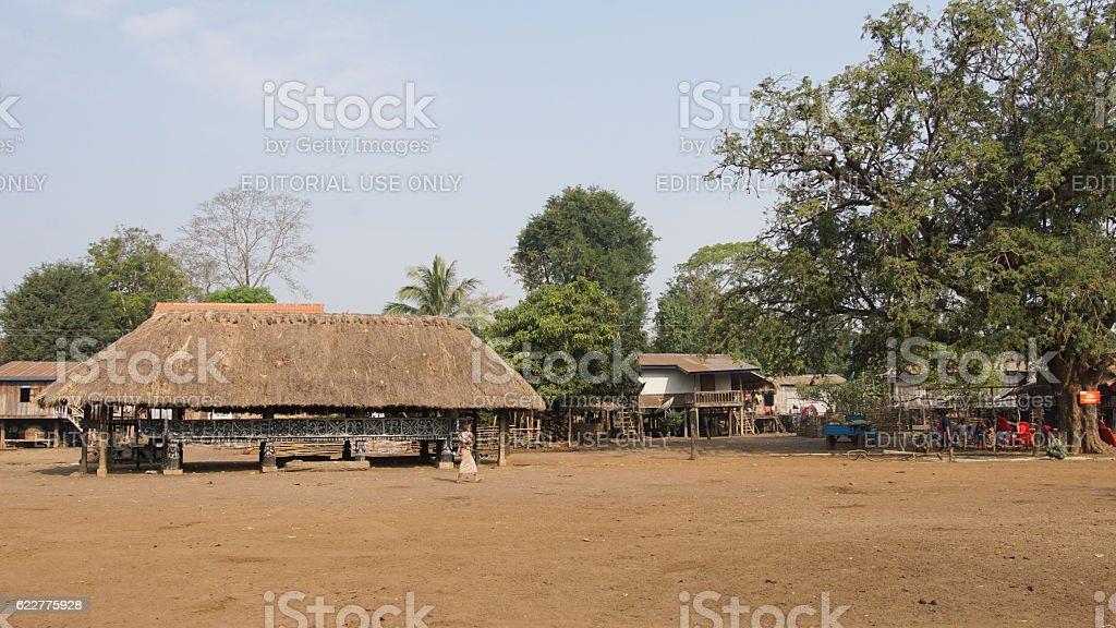 Traditional village of Katu minority, Laos, Asia stock photo