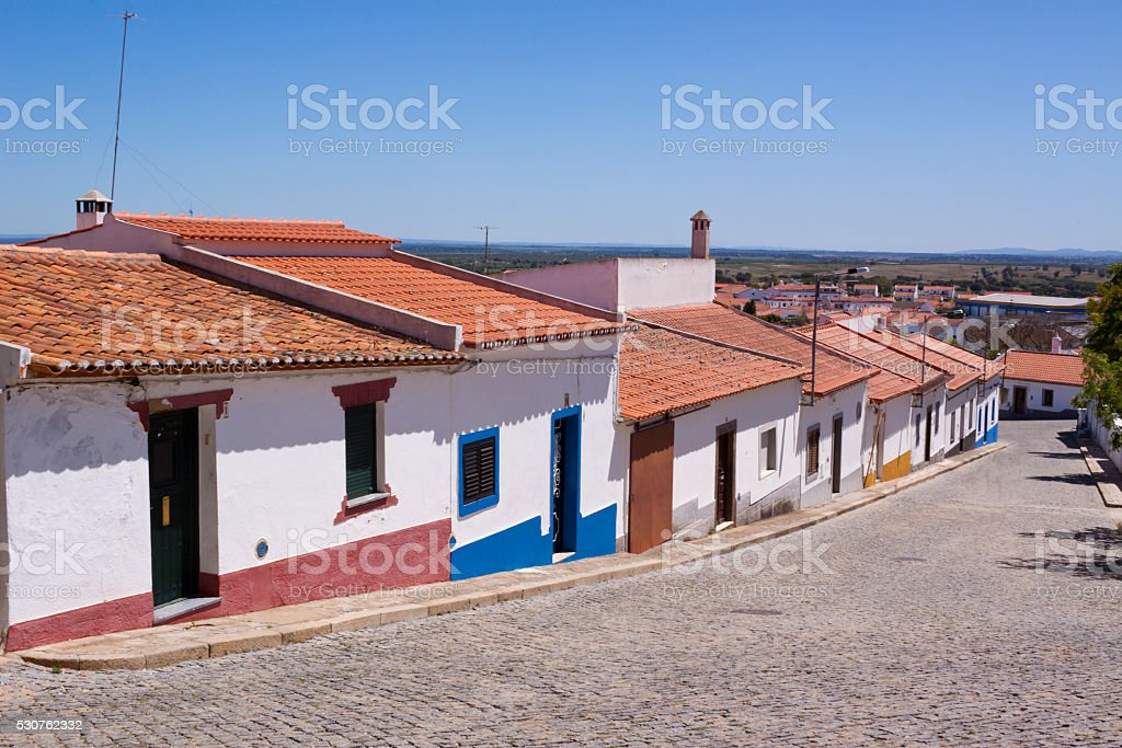 Traditional Village of Mourão stock photo