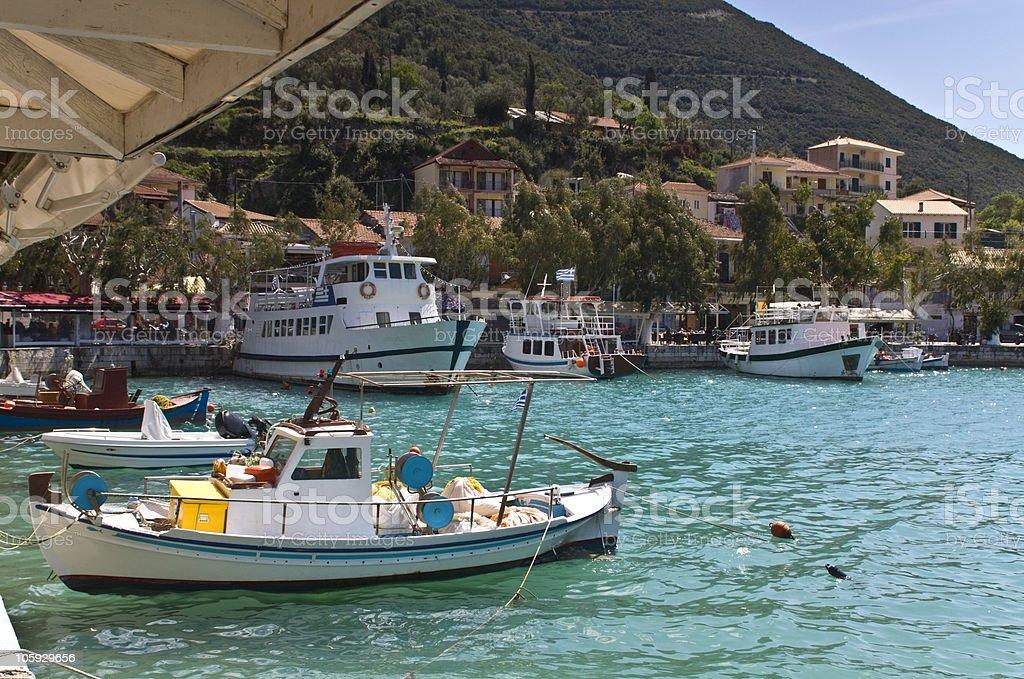 Traditional village of Vasiliki at Lefkada, Greece stock photo