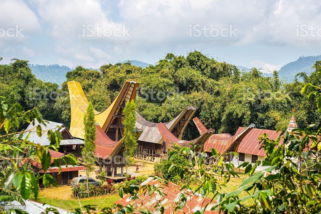 Traditional village, Tana Toraja stock photo