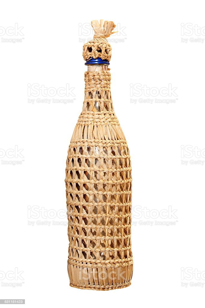 traditional vine bottle stock photo