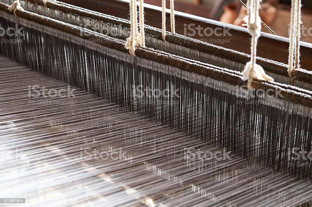 Traditional weaving stock photo