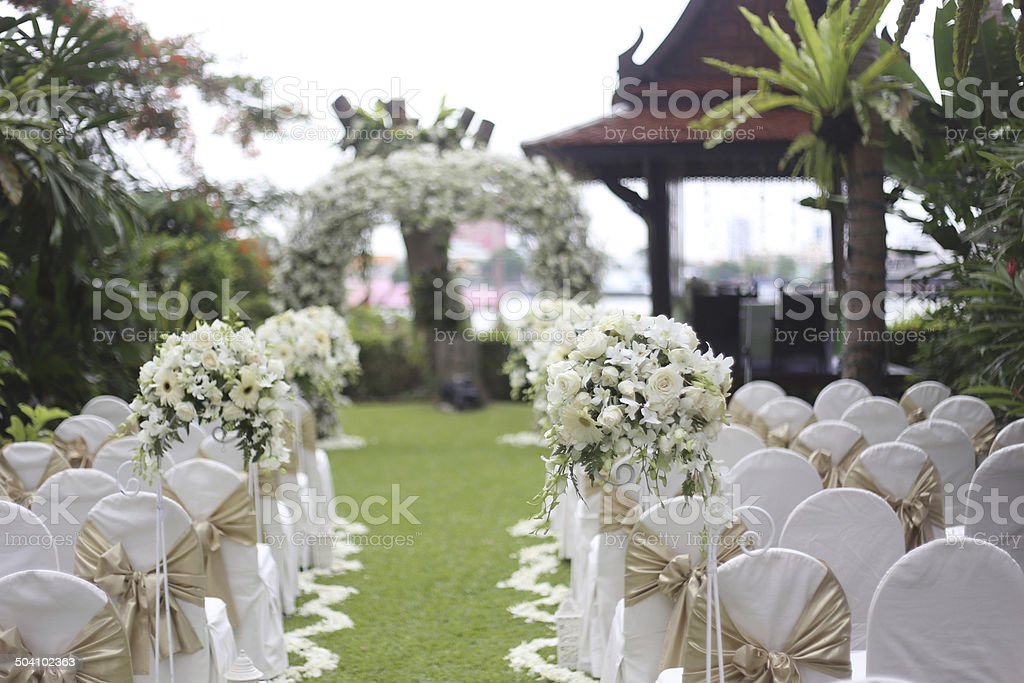 traditional wedding ceremony stock photo