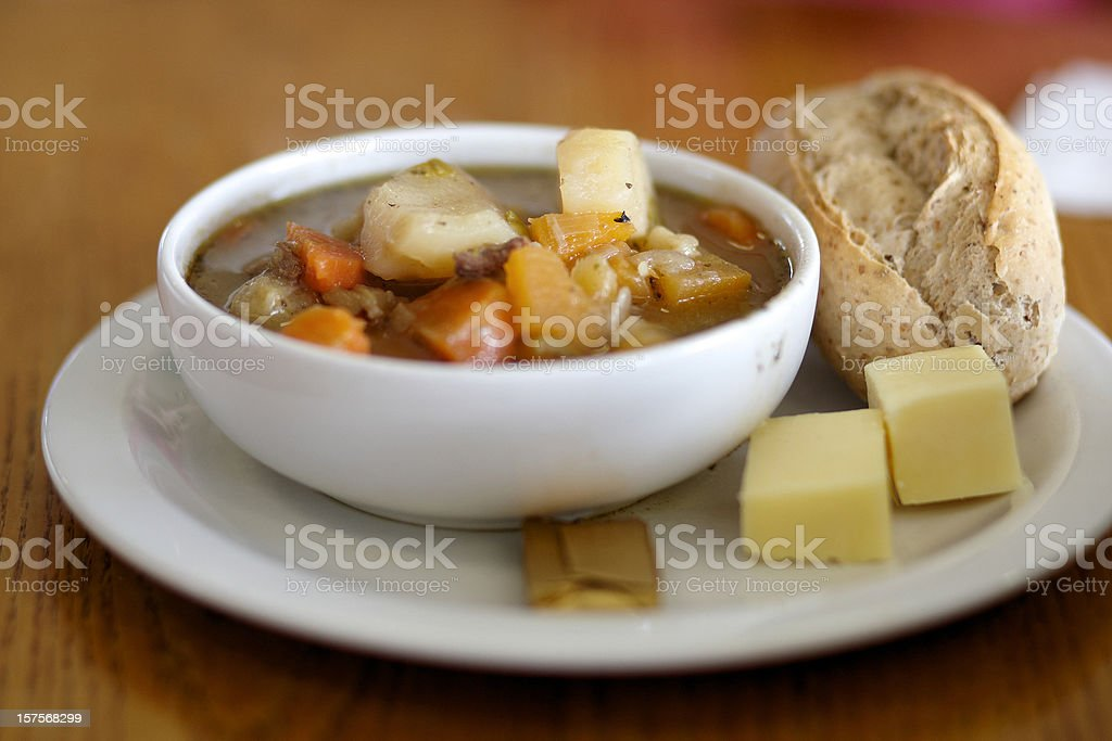 Traditional Welsh broth royalty-free stock photo