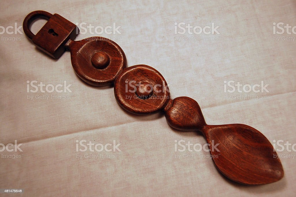 Traditional Welsh Love Spoon stock photo