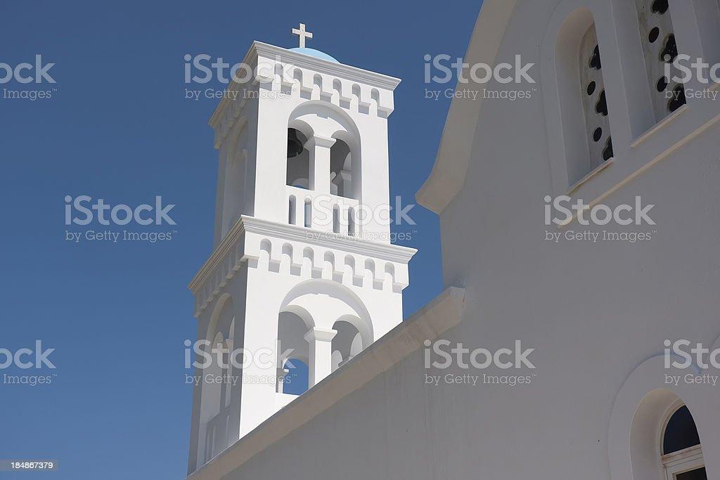 Traditional white church on island of Paros, Greece royalty-free stock photo