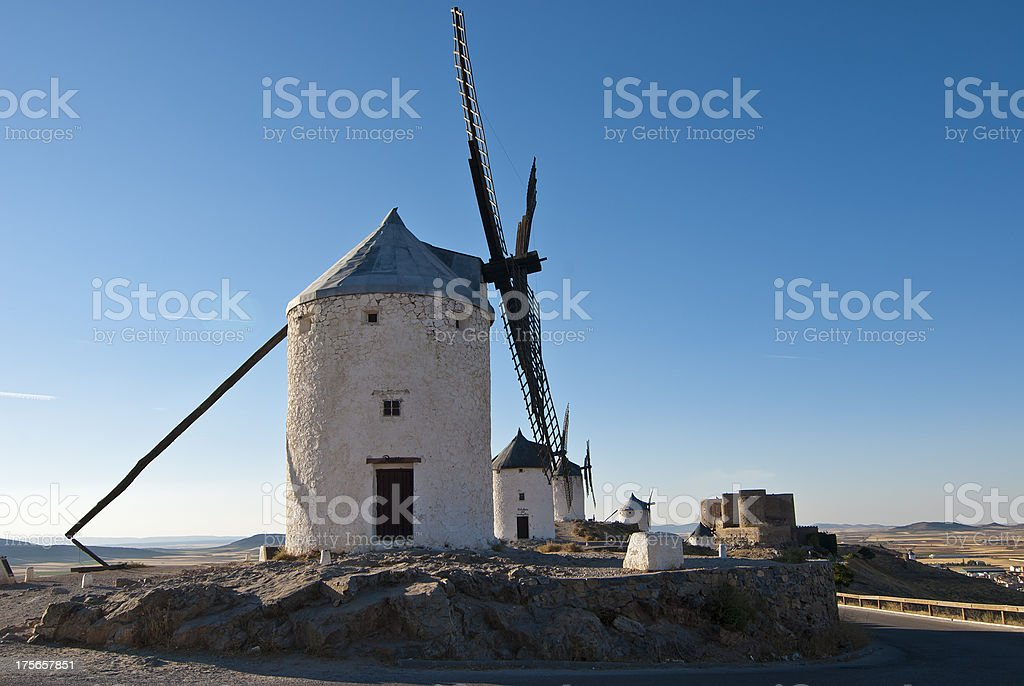 Traditional windmills in Spain royalty-free stock photo