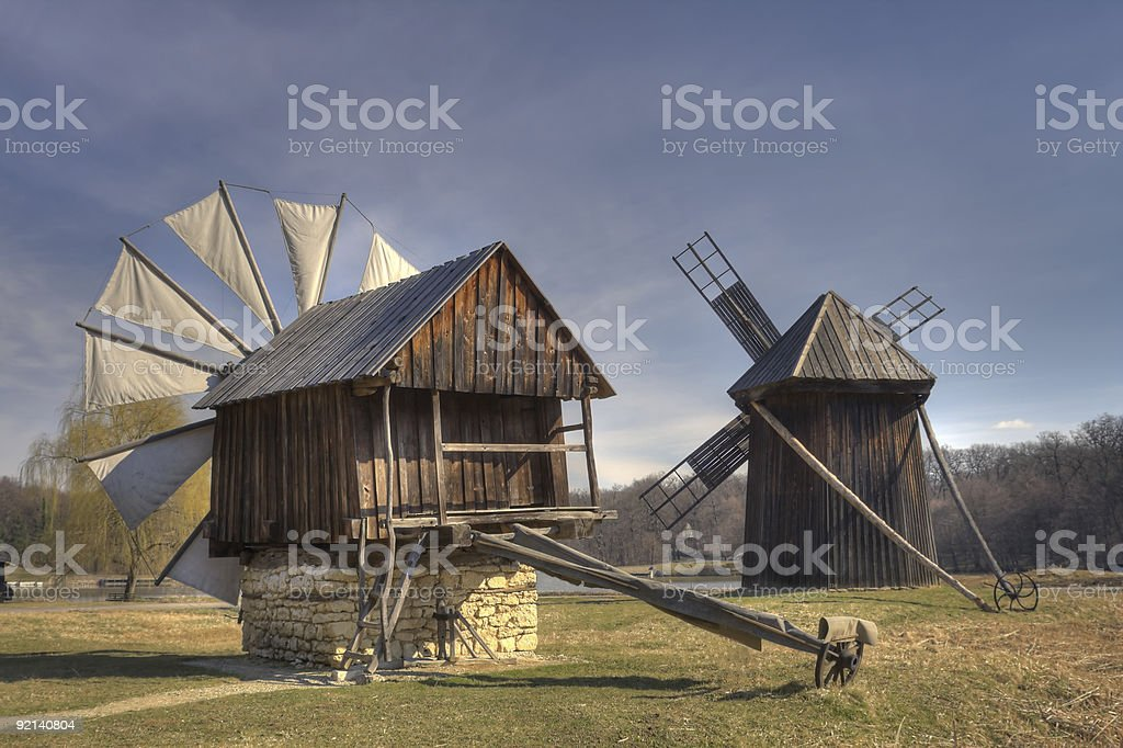 Traditional Windmills royalty-free stock photo