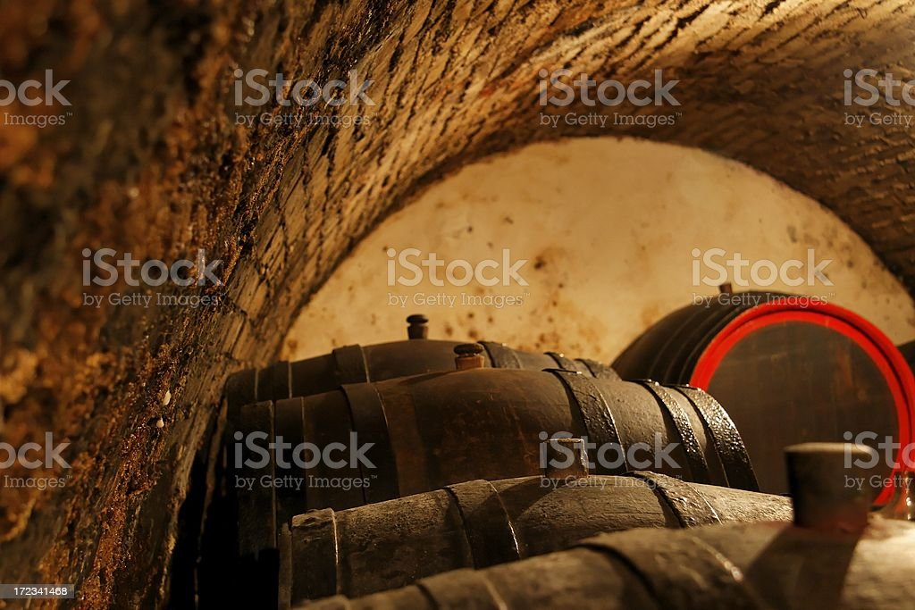 Traditional wine cellar royalty-free stock photo