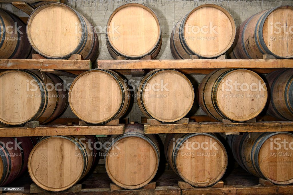 Traditional Wine cellar stock photo