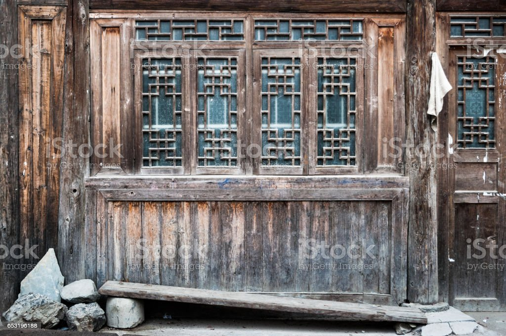 Traditional wooden architecture in Zhaoxing Dong village, Guizhou, China stock photo