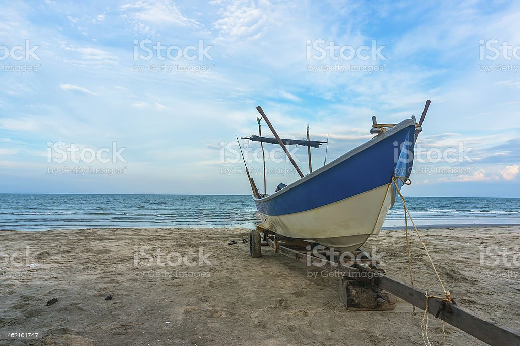 Traditional wooden boat royalty-free stock photo