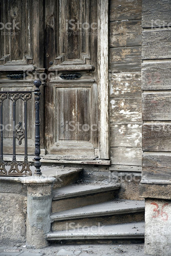 traditional wooden house in turkey royalty-free stock photo