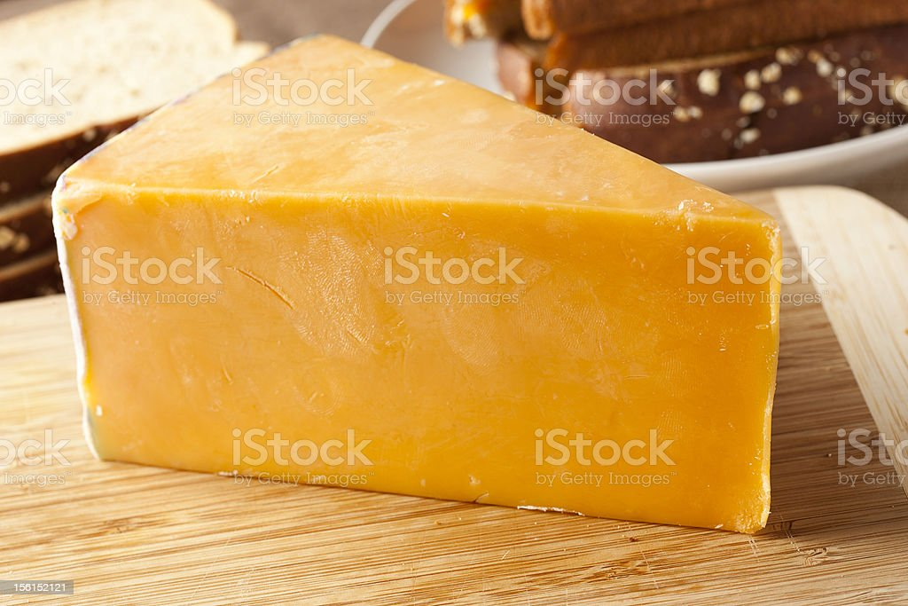 Traditional Yellow Cheddar Cheese stock photo