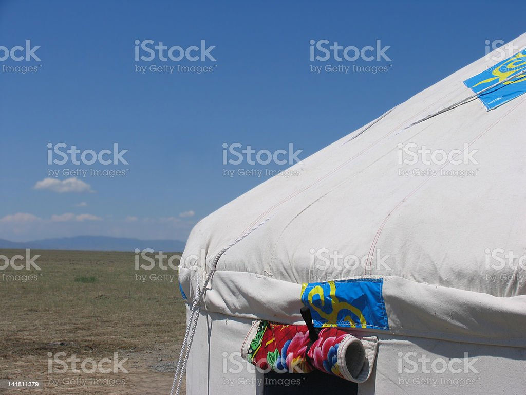 Traditional yurt (or yurts - portable home) in Kazakhstan royalty-free stock photo