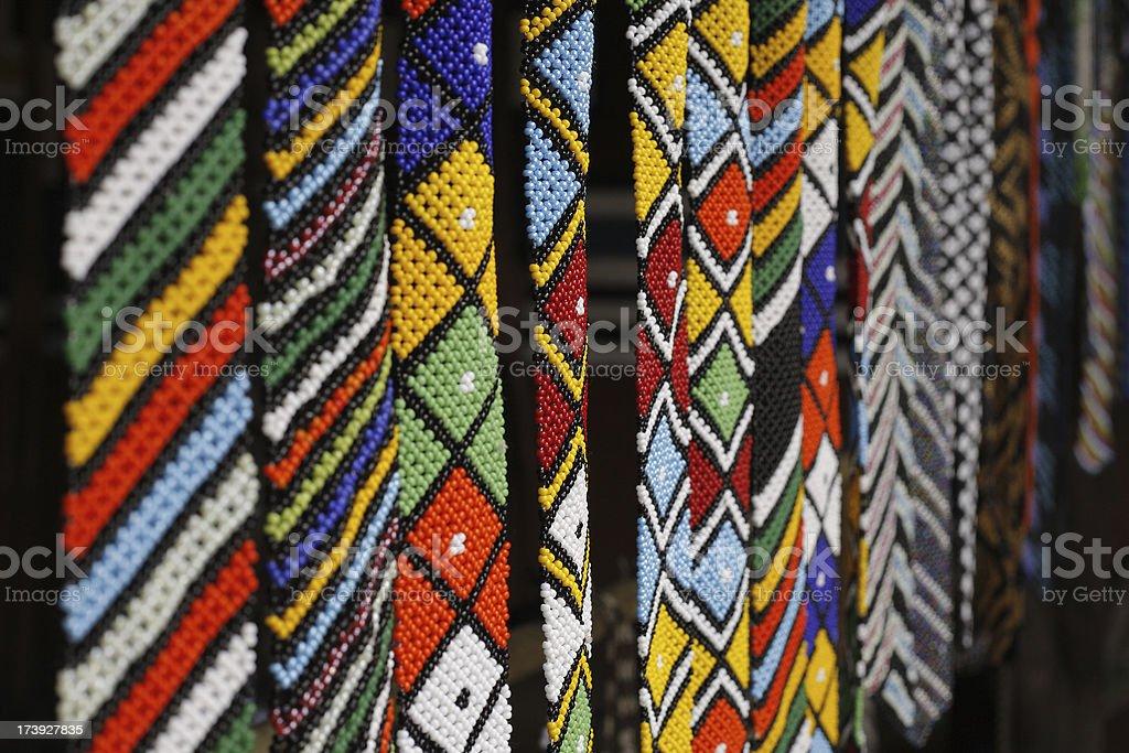 Traditional Zulu beadwork royalty-free stock photo
