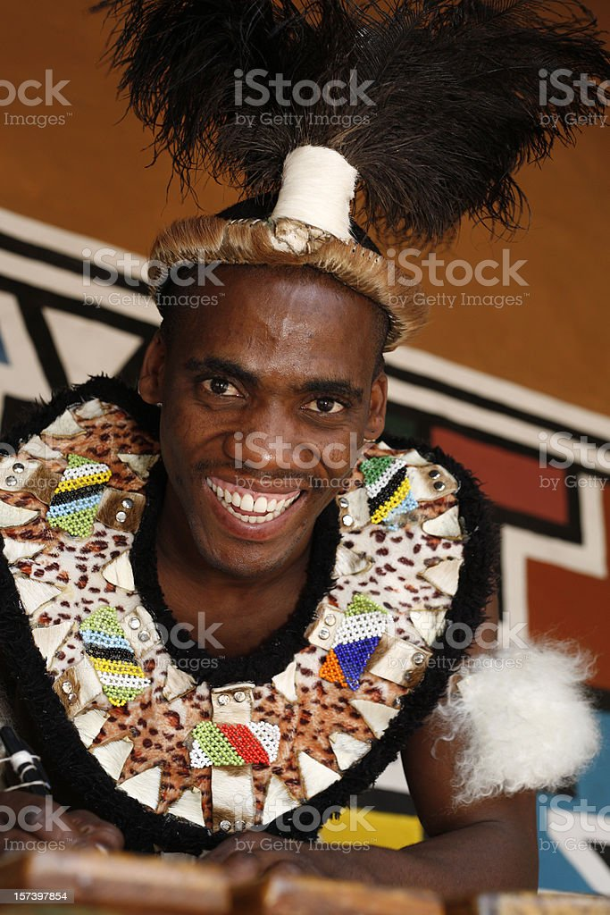 Traditional Zulu from South Africa royalty-free stock photo