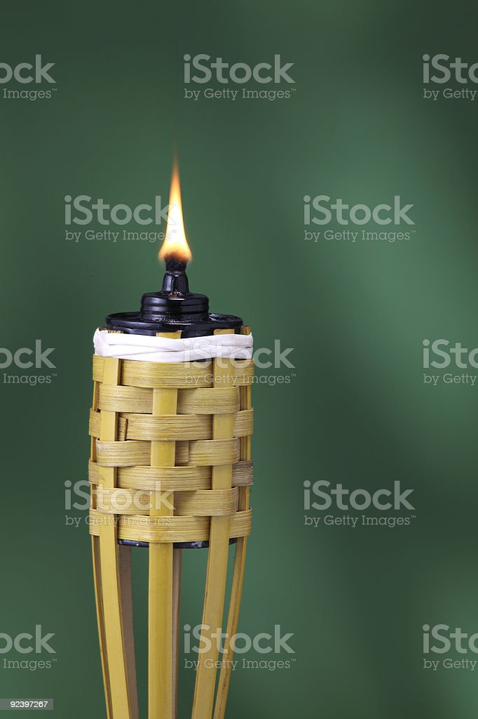 Traditionally oil lamp stock photo