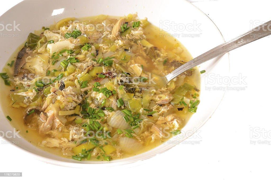 Traditionl bouillon soup royalty-free stock photo