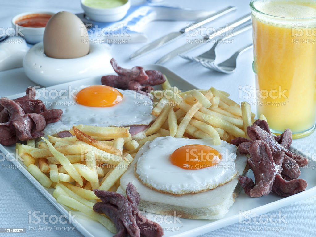 Traditionnal English breakfast stock photo