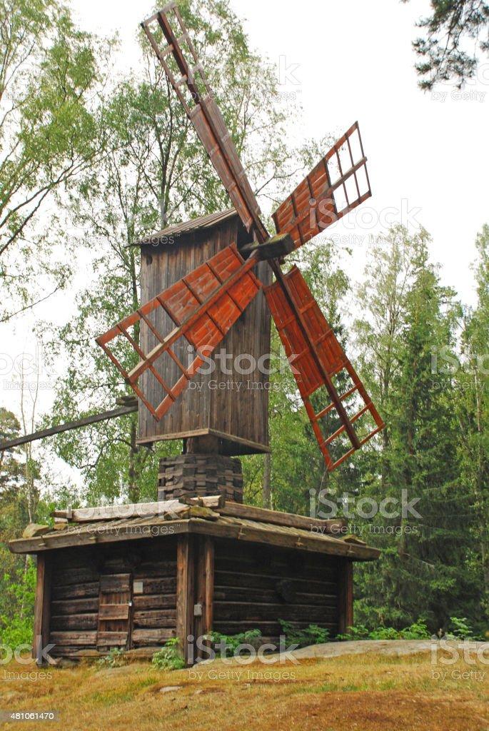 Traditionnal windmill stock photo